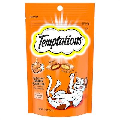 TEMPTATIONS High Protein Cat Treats Tantalising Turkey 6 x 85g