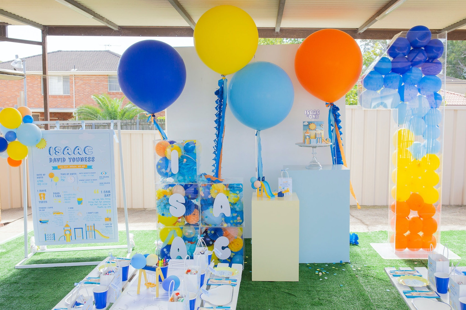 ISAAC'S BRIGHT PLAYGROUND 1ST BIRTHDAY PARTY