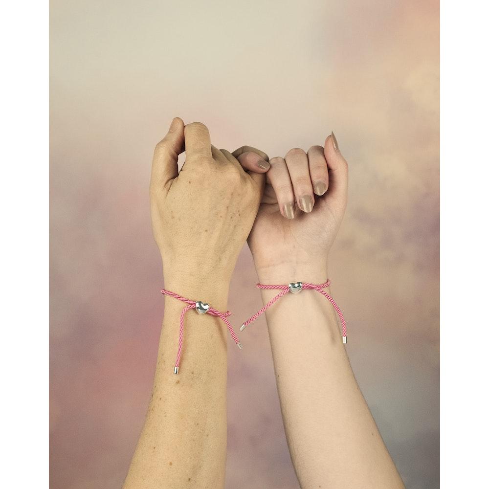 Jessica Alice Jewellery Sterling Silver Heart Friendship Bracelet