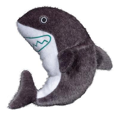 Spunky Pup Sea Plush Shark Dog Squeaker Toy - 2 Sizes
