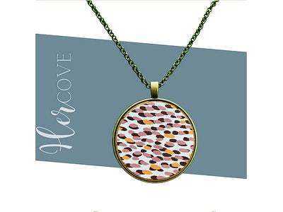 Hercove Wooden Print Necklaces