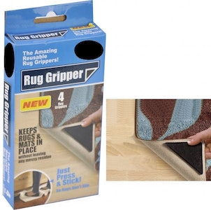 Boutique Medical 4x RUG GRIPPERS Non Slip Reusable Carpet Mat Gripper Anti Skid Washable Grip New