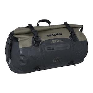 Oxford Aqua T50 Roll Bag - Black/ Khaki