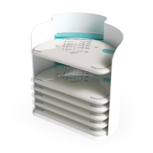 Nanobebe 25 Breastmilk Storage Bags & Organizer