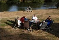 Fishing  at Longford Riverside Caravan Park