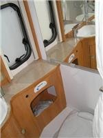 Hymer Nova. Toilet and shower