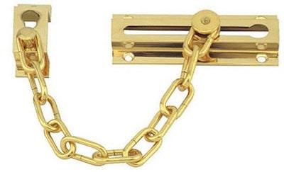 RiteFit Brass Finish Door Chain