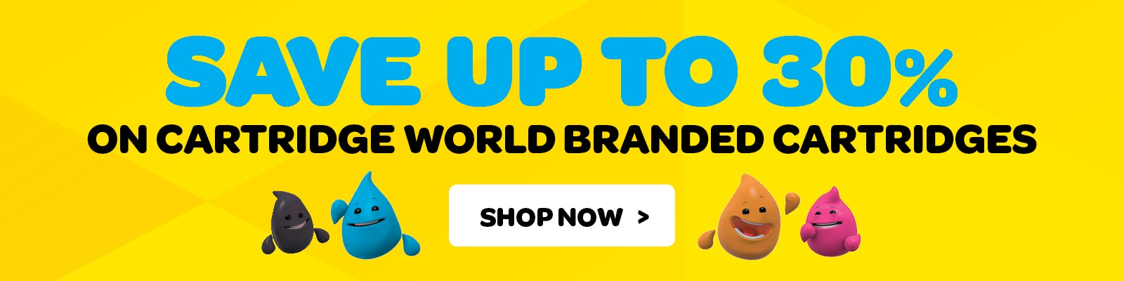 Save 30% on all Cartridge World Branded Products