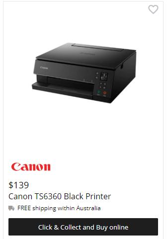 Canon PIXMA HOME TS6360 Printer