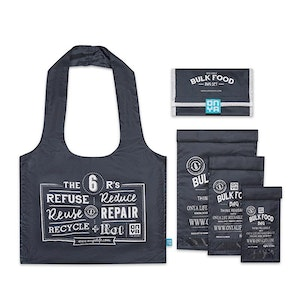 Onya Bulk Food Starter Sets made from recycled plastic drink bottles - Charcoal