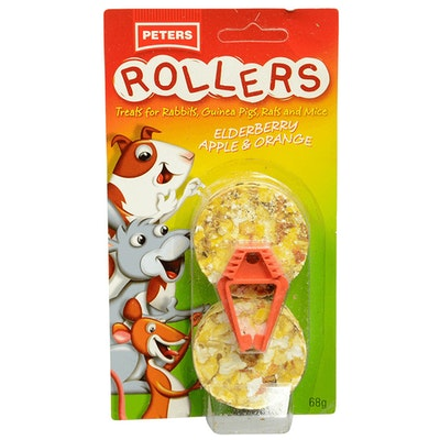 Peters Rollers Small Animal Food Tasty Treats 6 x 68g
