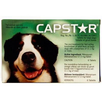 Novartis Capstar Oral Antiparasitic Large Pet Dogs Flea 6 x 57mg