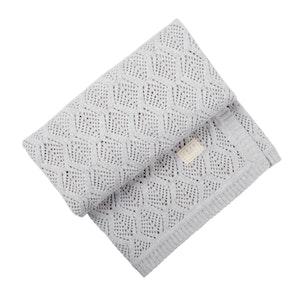 Jujo Baby Trellis Lace blanket - Silver