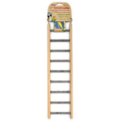 Penn Plax Cement Bird Ladder with Wooden Frame Woodgrain