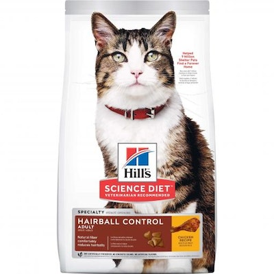 Hills Hill's Science Diet Hairball Control Adult Chicken Dry Cat Food 4kg