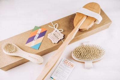 PrimaShoppe Wooden Body Dry Brush Set
