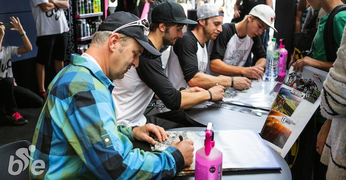 Hans rey signing session eurobike 2014