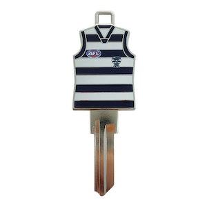 Creative Keys AFL Guernsey Key Blank LW4 – Geelong Cats