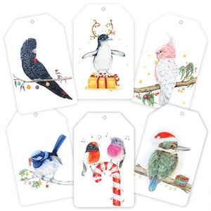 Christmas Gift Tag BIRDS (12 Pack)