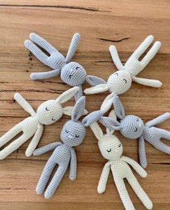 Mini Sized Hand Crocheted Baby Bunny