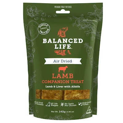 BALANCED LIFE Air Dried Raw Lamb Recipe for Dogs & Puppies 140g