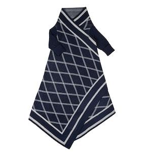 Jujo Baby Criss Cross pattern Shwrap™  - navy/silver