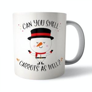 Can you smell Carrots? Christmas Mug