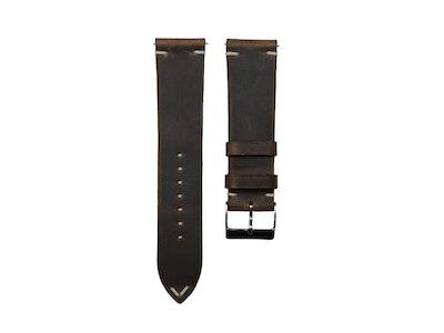 Artisan Straps - Renwick Two-Stitch Strap in Dark Brown