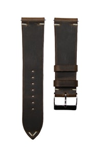 Artisan Straps - Renwick Two-Stitch Strap in Dark Brown