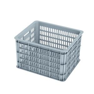 Basil Bicycle Crate Medium 33L Silver