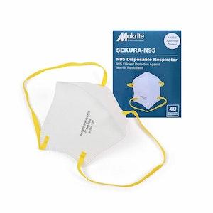 Makrite Sekura - N95 - Foldable Particulate Respirator Mask (40 Pack)