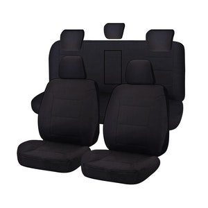 Tailor Made All Terrain Seat Covers for ISUZU D-MAX 06/2012-06/2020 DUAL CAB UTILITY BLACK