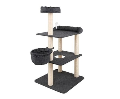 House of Pets Delight Multi Level Cat Scratching Tree Post in Grey