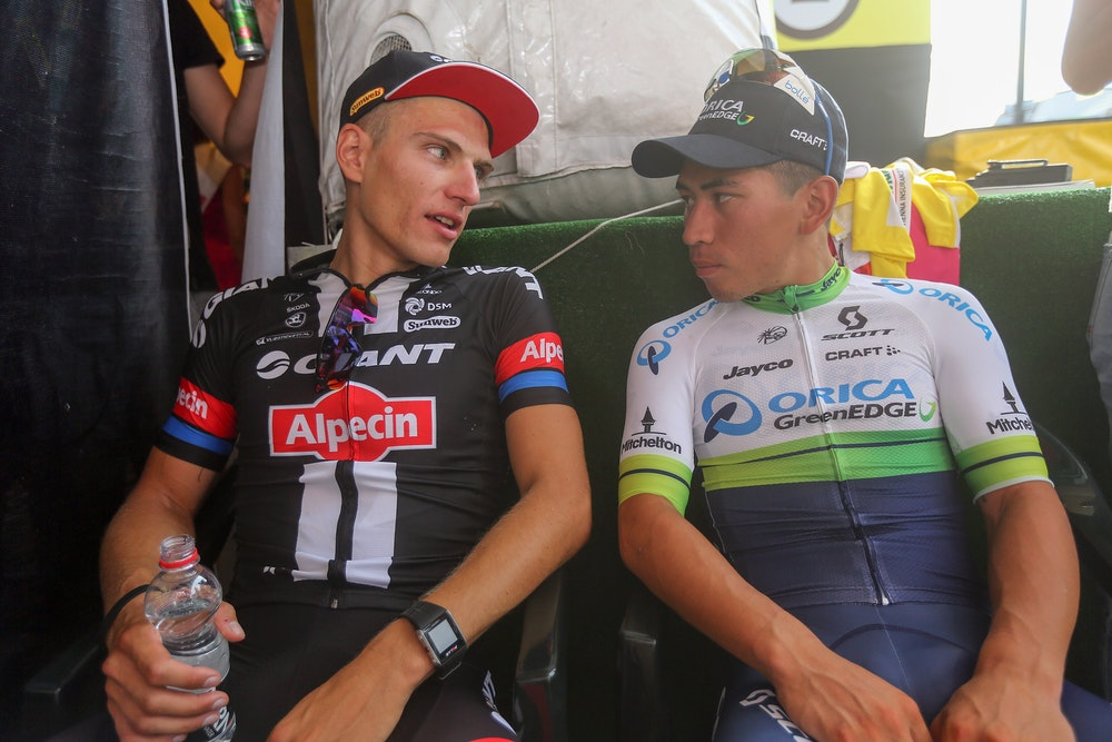 Caleb Ewan and Marcel Kittel