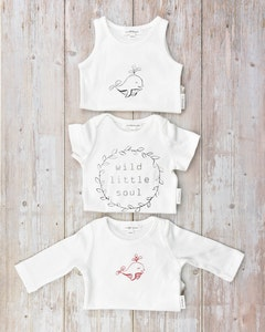 Certified Organic Cotton Bodysuits Mega Value Pack - Little Dolphins with Wild Little Soul