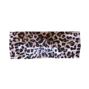 Marli & Me™ Bamboo Jersey Top Knot Headband | Rory Leopard