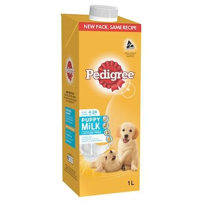 Pedigree Puppy Wet Dog Food Lactose Free Milk 8 x 1L