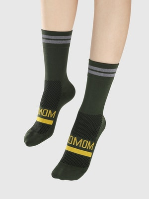 Soomom Reflective Chic Logo Cycling Socks - Green