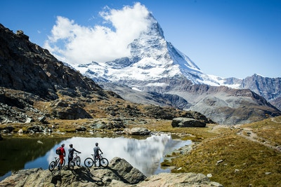 Riding Among Giants in Zermatt, Switzerland