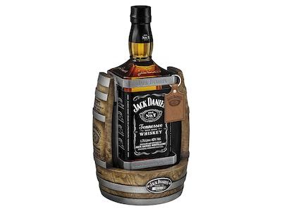 Jack Daniel's Old No. 7 Tennessee Whiskey & Oak Barrel Cradle 1.75L