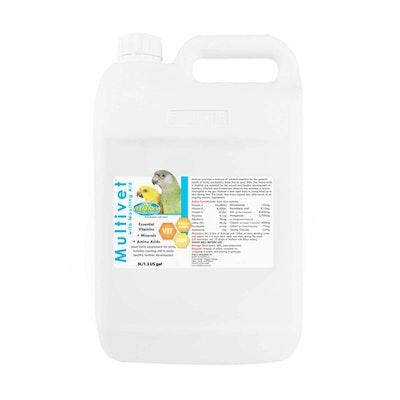 Vetafarm Multivet Liquid Moulting Aid Daily Bird Supplement 5L