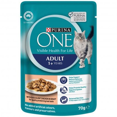 PURINA ONE Adult Chicken Wet Cat Food 70G