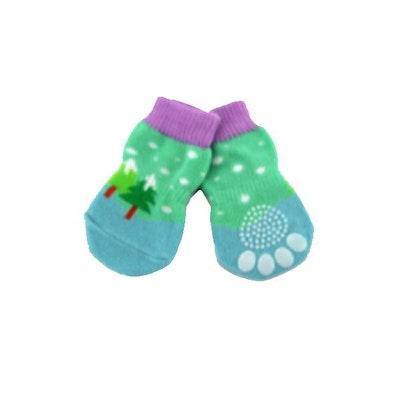 DoggyTopia Pastel Christmas Tree Dog Socks
