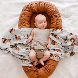 Bubba Bump Baby Bronze Organic Baby Lounge