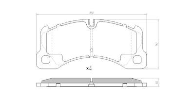 EBC YELLOW STUFF FRONT BRAKE PADS for Porsche Cayenne 92A 3.0TD 6/2011-1/2018
