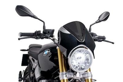 Puig Retrovision Screen To Suit BMW R Nine T / Pure (Dark Smoke)