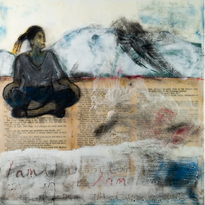Tracy Stirzaker Finding Jackie, with love I - Original Artwork 2020