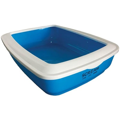 ScreamPet Scream Rectangle Cat Litter Tray Removable Rim - 4 Colours