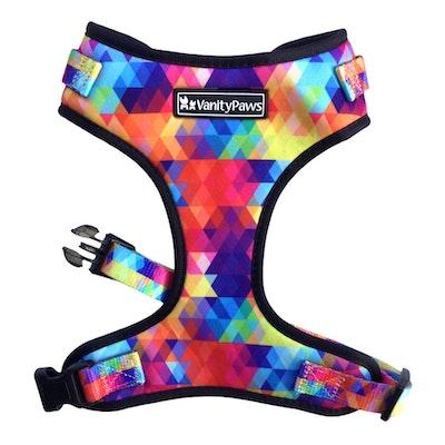 VanityPaws Abstract Rainbow -Adjustable Harness