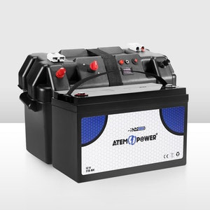 12V 110AH AGM Battery AMP Hour SLA Deep Cycle Dual Fridge + Battery Box